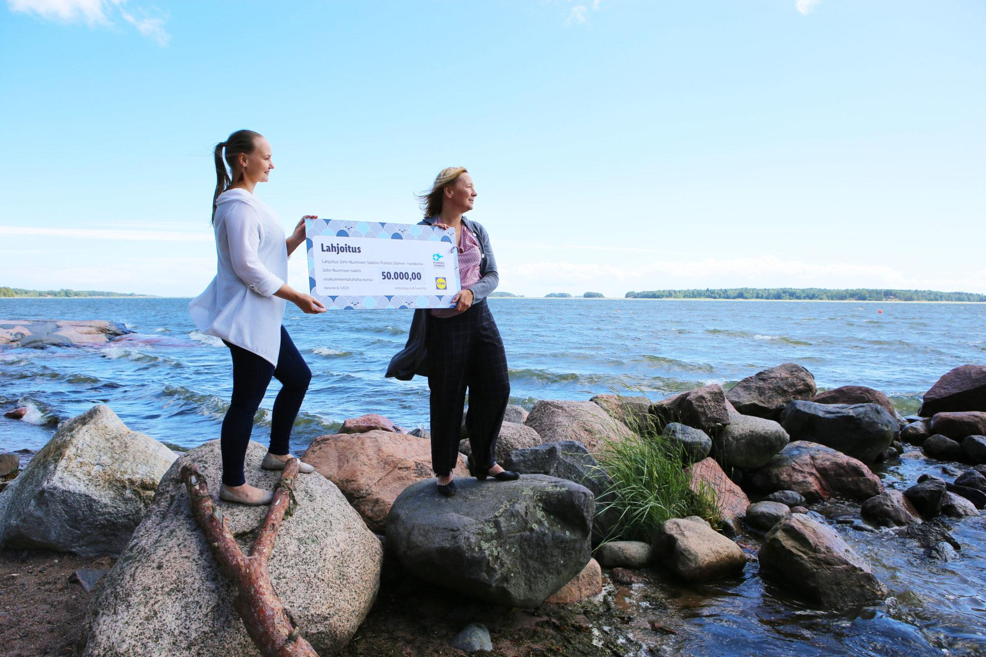 Lidliltä 50 000 euron lahjoitus Itämeren suojeluun