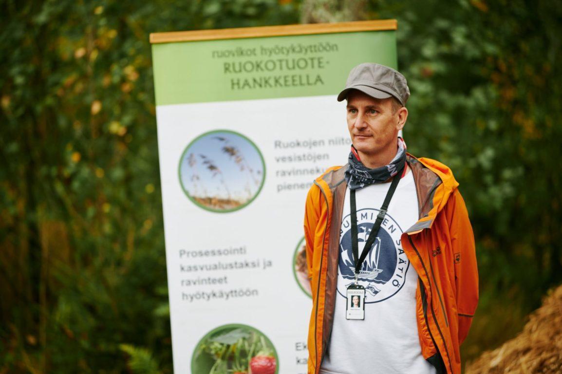 Rannikkoruokohankkeen projektipäällikkö Mikko Peltonen